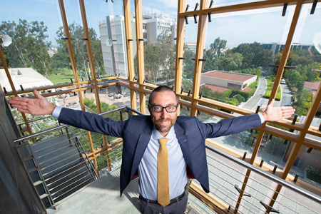 """""""I started looking for a place that was ambitious, hungry, and had outstanding faculty, students and staff,"""" said new Samueli School of Engineering DeanMagnus Egerstedt.""""UCI is firing on all those cylinders, and it is clear that the Samueli School of Engineering is a place where one can make big things happen.""""Photo by Steve Zylius / UCI."""
